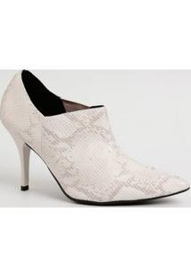 Bota Feminina Ankle Boot Textura Cobra Beira Rio