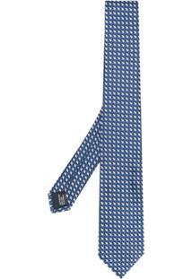 Lanvin Gravata Xadrez - Azul