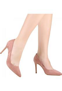 Sapato Scarpin Schutz Bico Fino Rosa