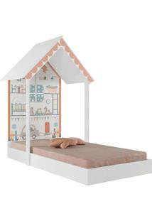 Mini Cama Casinha Montessoriana Home Branca Pura Magia - Tricae