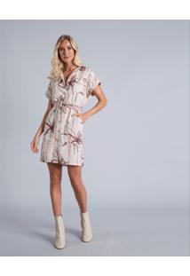 Vestido Chemise Cinto Linho Malibu - Lez A Lez