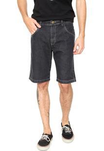 Bermuda Jeans Rusty Reta Monty Preta