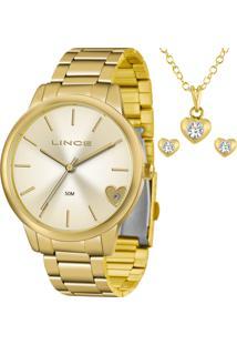 Kit Relógio Lince Feminino Com Colar E Brincos Lrg4559Lkv40C1Kx