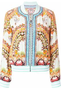 Camilla Embroidered Bomber Jacket - Colorido