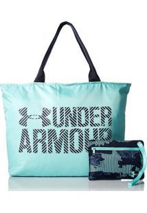 Bolsa Under Armour Big Wordmark Tote 2.0 - Feminino-Azul Claro+Azul