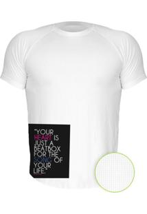 Camiseta Manga Curta Nerderia Song Of Your Life Branco