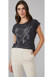 T-Shirt Amaro Dream On Cinza - Cinza - Feminino - Dafiti