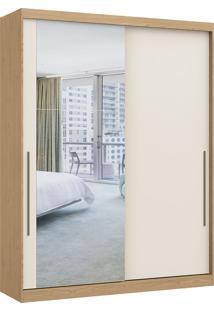Módulo Com 2 Portas De Correr C/ Espelho E 2 Gavetas Elegance 4222A- Móveis Castro - Angelin / Off White