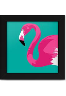 Quadro Adoraria Flamingo Preto