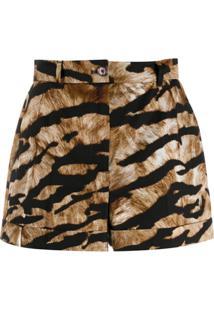 Dolce & Gabbana Bermuda De Alfaiataria Com Estampa De Tigre - Hkasm