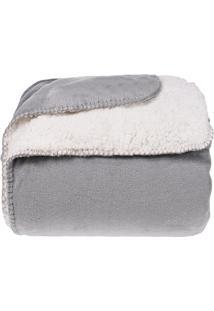 Cobertor Casal Sherpa Pele De Carneiro E Plush Dupla Face - Urban