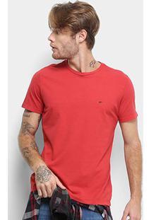 Camiseta Ellus Cotton Fine E Asa Classic Masculina - Masculino-Vermelho