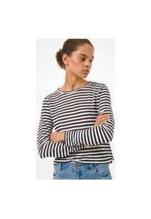 Blusa Michael Kors Elv Ls Stripe Ms05Mgle2G048