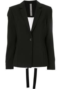 Symetria Blazer Interface Bicolor - Preto