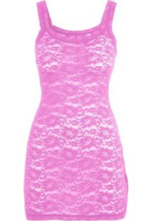 Camisola Angel Lace Loungerie - Rosa