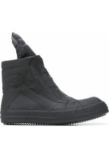 Rick Owens Ankle Boot Perfoma Geobasket - Preto