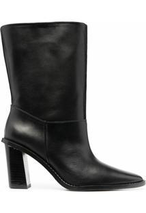 Kenzo Ankle Boot Bico Fino - Preto