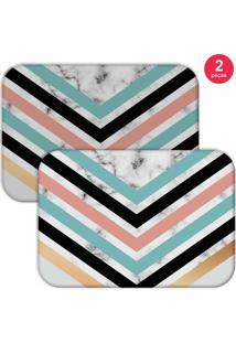 Jogo Americano Love Decor Geometric Marble Colorido