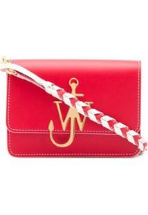 Jw Anderson Bolsa Transversal Com Logo De Âncora E Detalhe Trançado - Scarlet