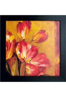 Quadro Flores Ii Imbuia 35X35 Cm Kapos