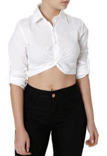 Camisa Manga Longa Feminina Autentique Off White