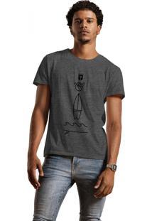 Camiseta Joss Hang Loose Cinza