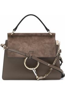 Chloé Small Faye Shoulder Bag - Cinza