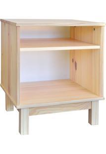Mesa De Cabeceira Wood Garapa E Branca