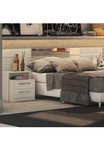 Cabeceira Box Com Criado Mudo Dormitório 2013 B290 Amêndoa Fosco - Kappesberg