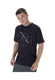Camiseta Hurley Silk Boards - Masculina - Preto
