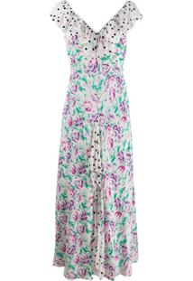 Rixo Antoinette Ruffled-Trim Dress - Branco