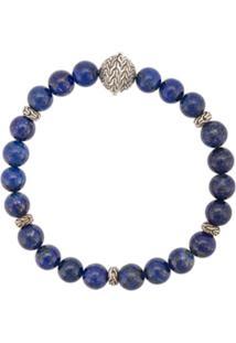 John Hardy Pulseira Classic Chain De Prata Com Lapis Lazuli - Cinza