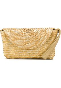 Piccola Ludo Clutch De Palha - Neutro