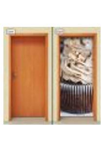 Adesivo Decorativo De Porta - Cupcake - Doces - 1214Cnpt