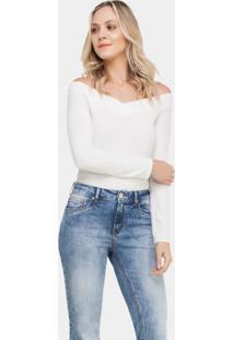 Calça Flare Cropped Malibu Franjas Jeans - Lez A Lez