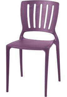 Cadeira Sofia Vazado Vertical Polipropileno Lilas - 19516 - Sun House