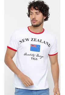 Camiseta Tigs New Zealand Masculina - Masculino
