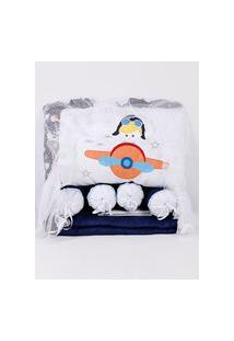 Kit Enxoval Para Bebê Menino - Azul Marinho