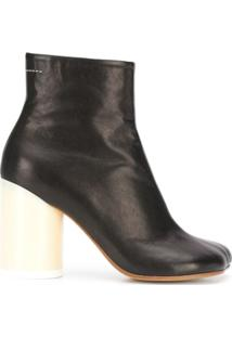 Mm6 Maison Margiela Ankle Boot Com Salto 90Mm - Preto