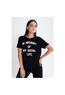 Camiseta Preview Social Life Preto