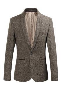 Blazer Masculino Elegante Design Slim - Cáqui