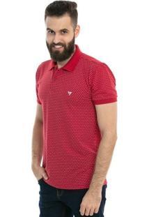 Camisa Polo D'Affari Estampa Mini Print Masculina - Masculino