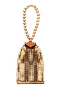 Ulla Johnson Raya Woven Bracelet Bag - Neutro