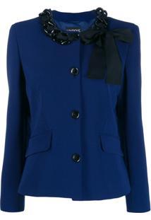 Boutique Moschino Jaqueta Com Corrente - Azul