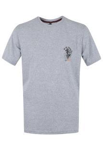 Camiseta Hd Mermaid Of - Masculina - Cinza