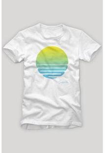 Camiseta Reserva Sol Azul - Masculino-Branco