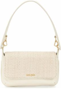 Cult Gaia Damara Leather Shoulder Bag - Neutro
