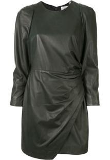 A.L.C. Vestido Lana Drapeado - Verde