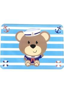 Jogo Americano Infantil Impermeável Azul - Urso Marinheiro - Unik Toys - Kanui