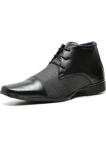 Bota Coturno Sapato Casual Top Flex Social R108M Preto